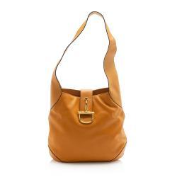 Celine Vintage Leather Horsebit Shoulder Bag