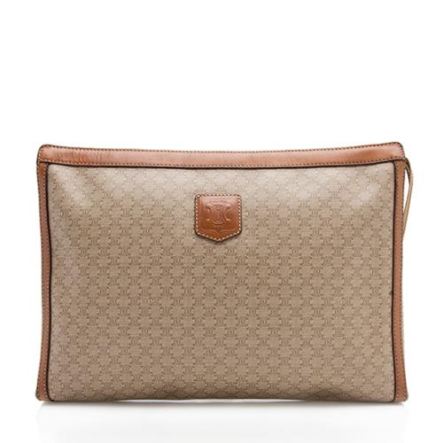 Celine Vintage Leather Monogram Clutch
