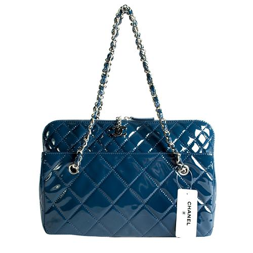 Chanel 11P Patent Leather Quilted Tote
