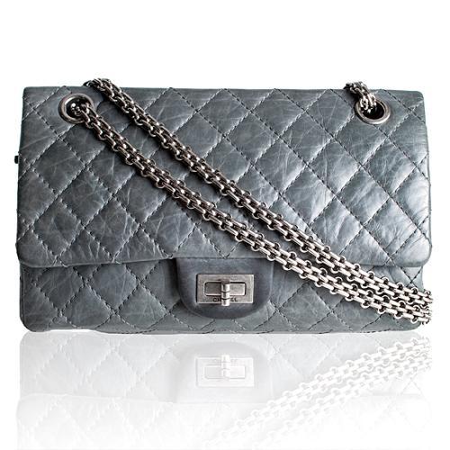 Chanel 50th Anniversary Reissue 2.55 Classic 225 Double Flap Shoulder Handbag