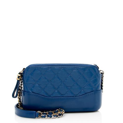 Chanel Aged Calfskin Gabrielle Clutch Crossbody Bag