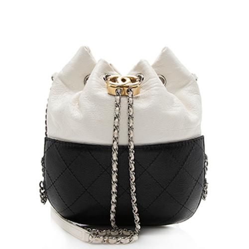 Chanel Aged Calfskin Gabrielle Small Chain Bucket Bag