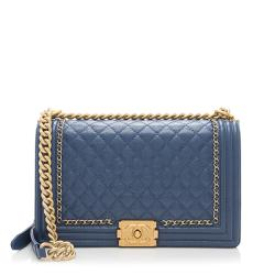 Chanel Aged Calfskin New Medium Jacket Boy Bag