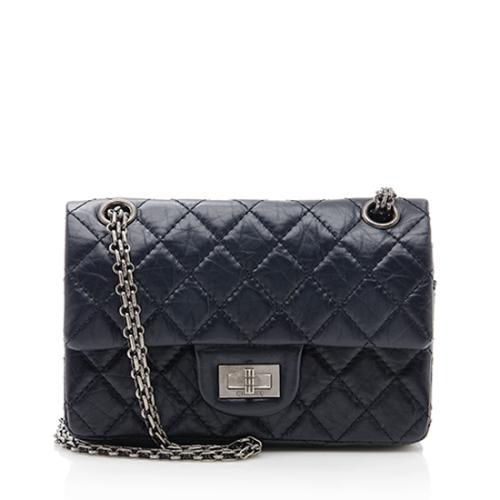 Chanel Aged Calfskin Reissue 224 Double Flap Shoulder Bag - FINAL SALE
