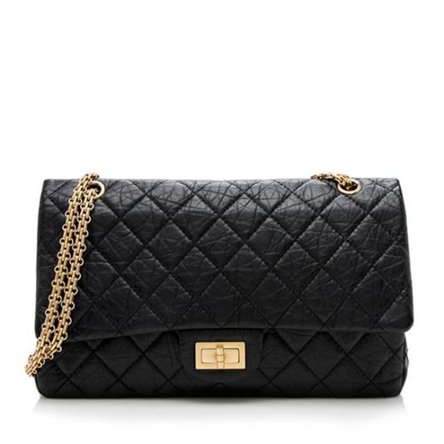 Chanel Aged Calfskin Reissue 227 Double Flap Bag
