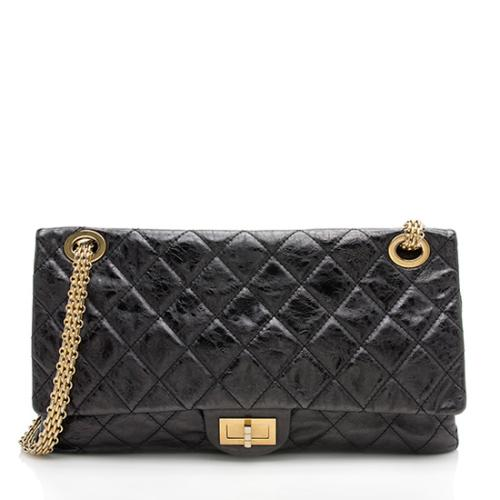 Chanel Aged Calfskin Reissue 228 Double Flap Shoulder Bag