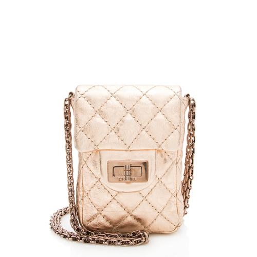 32b031489f5b Chanel Aged Calfskin Reissue Phone Holder Crossbody Bag