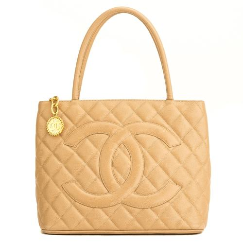 Chanel Quilted Caviar Medallion Tote