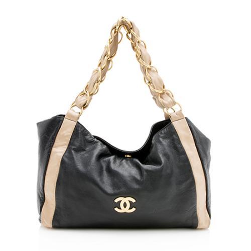 Chanel Bi-Color Lambskin Chain Shoulder Bag