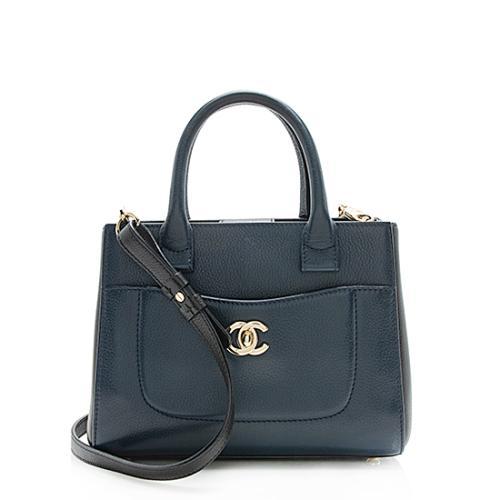 Chanel Bicolor Grained Calfskin Executive Mini Shopper Tote