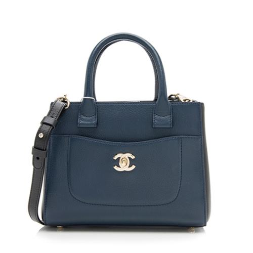 Chanel Bicolor Grained Calfskin Executive Mini Shopper Tote