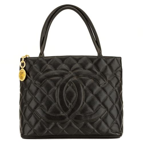Chanel Caviar Leather Petite Shopping Tote