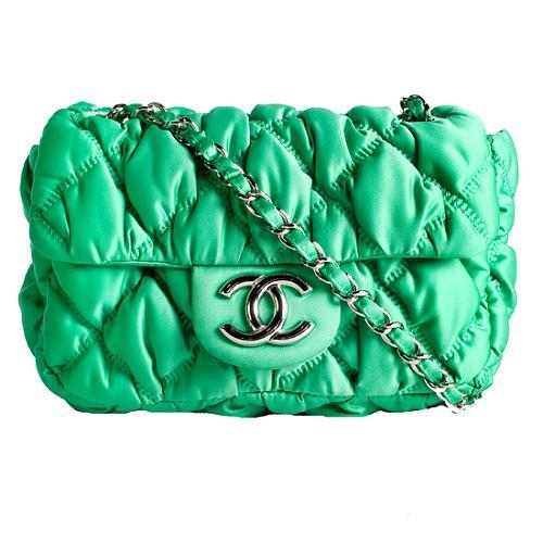 Chanel Bubble Quilt Nylon Flap Small Shoulder Handbag