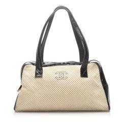 Chanel CC Quilted Canvas Shoulder Bag