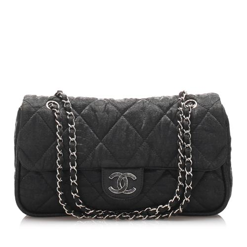 Chanel Canvas CC Quilted Shoulder Bag
