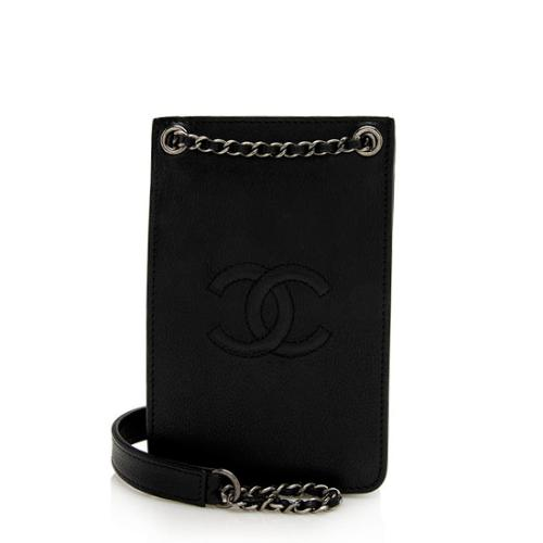 Chanel Calfskin CC Phone Holder Crossbody Bag