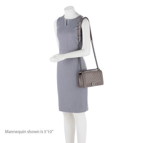 Chanel Calfskin Chevron Medium Boy Bag
