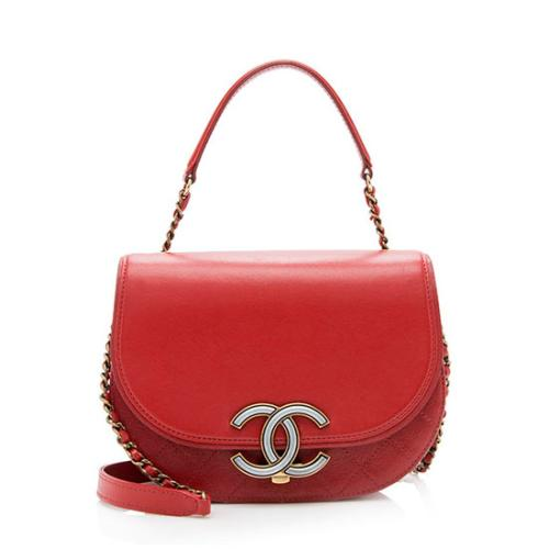 Chanel Calfskin Coco Curve Small Messenger Bag
