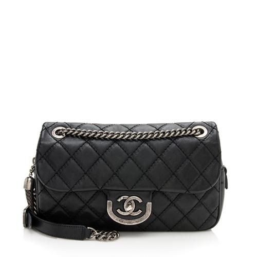 Chanel Calfskin Coco Sporran Medium Flap Shoulder Bag