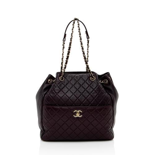 Chanel Calfskin Drawstring Bucket Bag