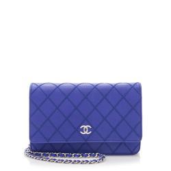 Chanel Calfskin Fancy CC Classic Wallet on Chain Bag