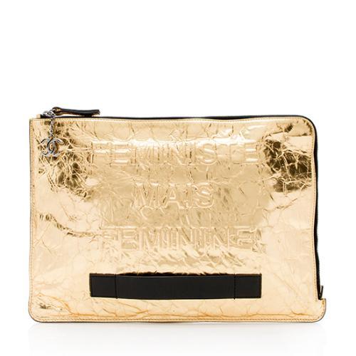 Chanel Calfskin Feminist Large Clutch