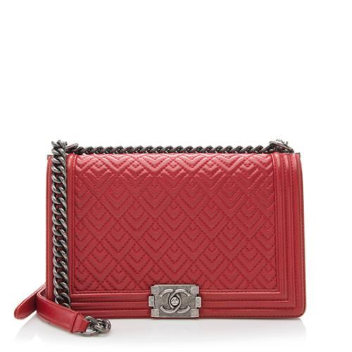 Chanel Quilted Calfskin New Medium Boy Bag