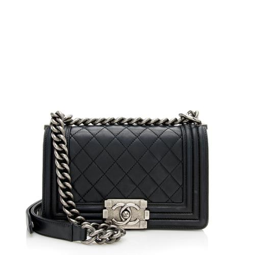 Chanel Calfskin Small Boy Bag