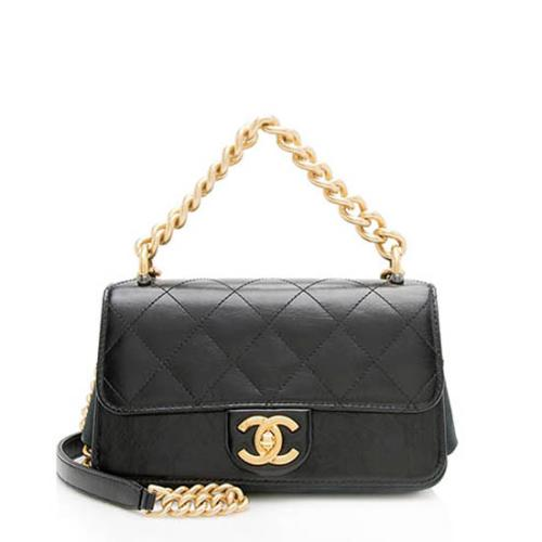 Chanel Calfskin Straight Line Mini Shoulder Bag