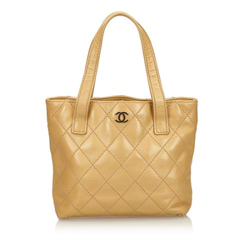 Chanel Calfskin Surpique Small Tote
