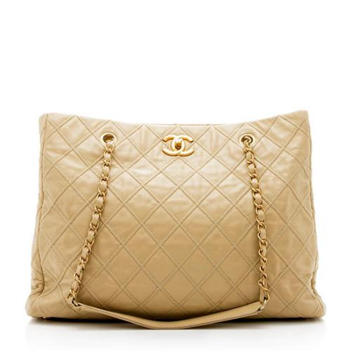Chanel Calfskin Thin City Large Tote