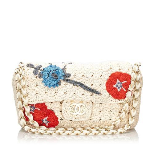 Chanel Crochet Camellia Flap Bag