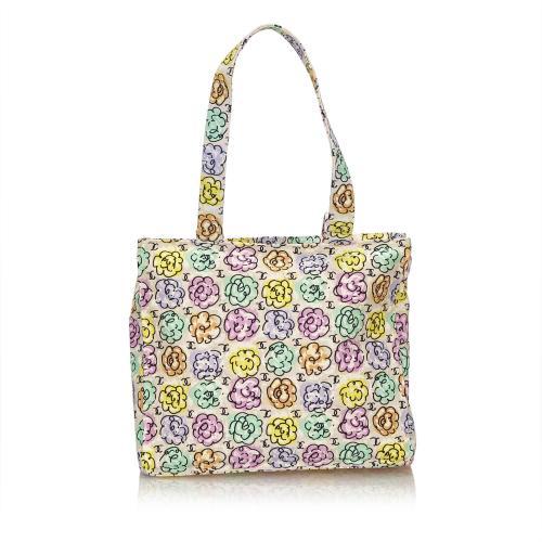 Chanel Camellia Printed Shoulder Bag