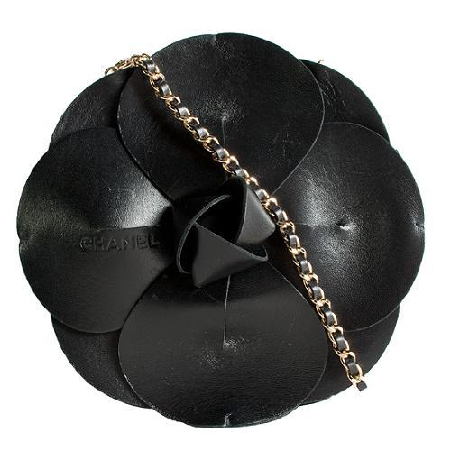 Chanel Camellia Structured Shoulder Handbag