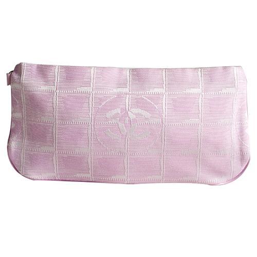 Chanel Canvas CC Logo Travel Line Cosmetic Bag