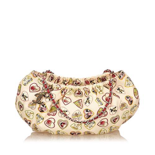 Chanel Canvas Valentine Small Shoulder Bag