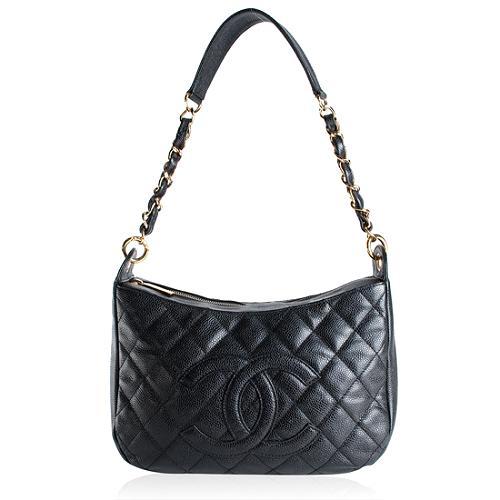 Chanel Caviar Large Sac Divers Shoulder Handbag