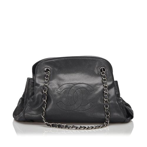 Chanel Caviar Leather Accordion Shoulder Bag