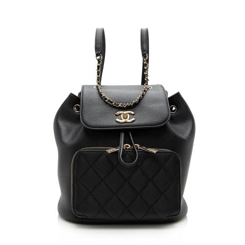 Chanel Caviar Leather Business Affinity Backpack
