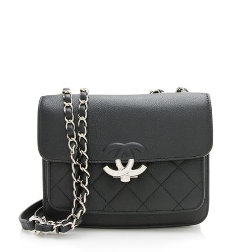 Chanel Caviar Leather CC Flap Shoulder Bag