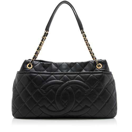 Chanel Caviar Leather CC Soft Timeless Large Shoulder Bag