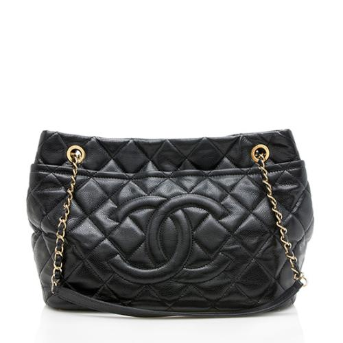 Chanel Caviar Leather CC Soft Timeless Large Tote
