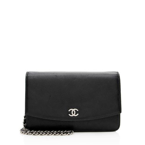 Chanel Caviar Leather CC Wallet on Chain