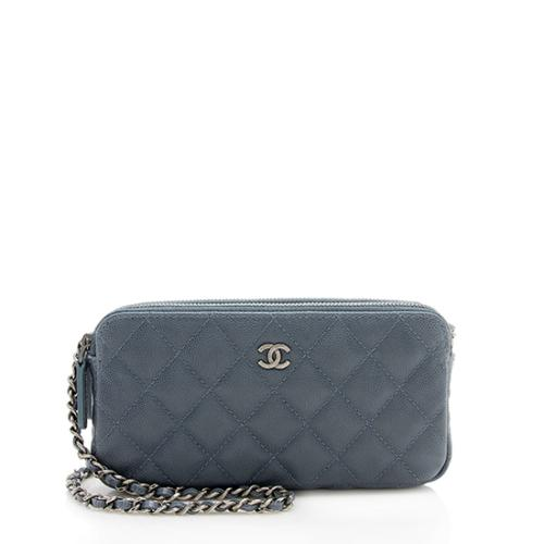 Chanel Caviar Leather Classic Clutch with Chain