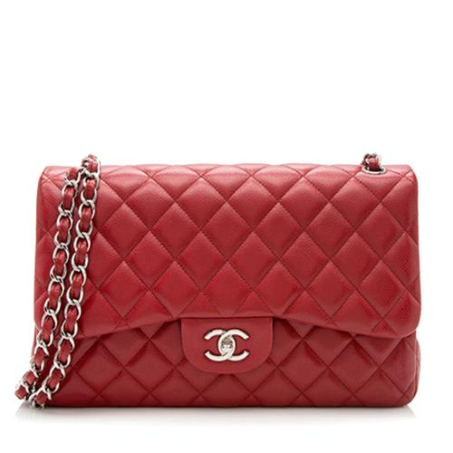 Chanel Caviar Leather Classic Jumbo Double Flap Bag