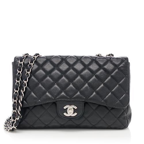 Chanel Caviar Leather Classic Jumbo Single Flap Bag