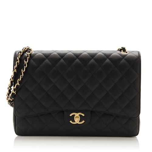 19df01443277 Chanel Caviar Leather Classic Maxi Double Flap Bag
