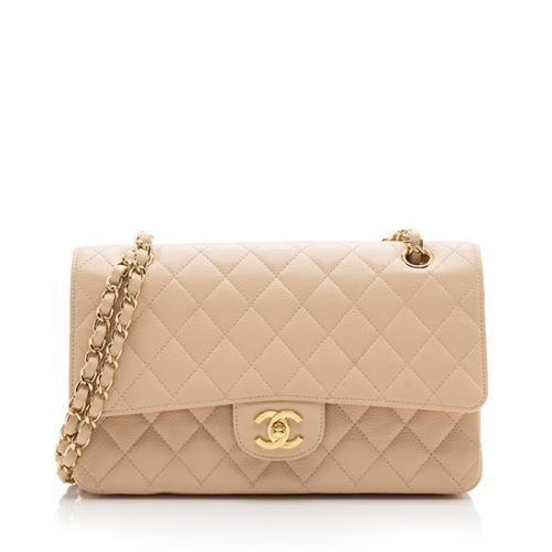 Chanel Caviar Leather Classic Medium Double Flap Bag