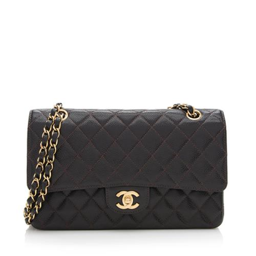 Chanel Caviar Leather Classic Medium Double Flap Bag