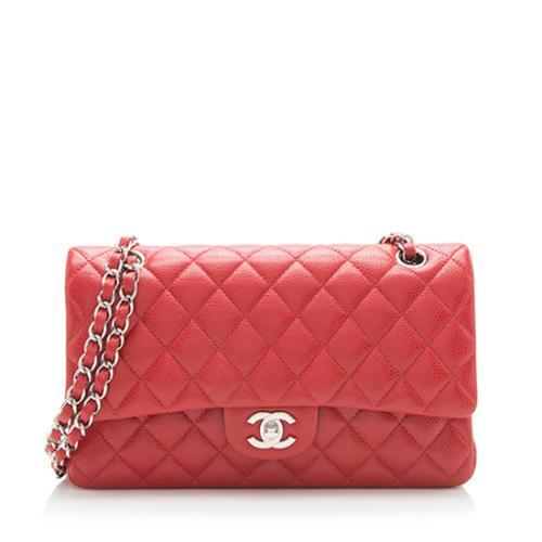 Chanel Caviar Leather Classic Medium Double Flap Bag b6ebe93a90f42